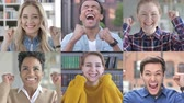 erster platz : Collage of Young People Showing gesture of victory With Hands Videos