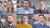 se movendo para cima : Collage of Young People Doing thumbs Down