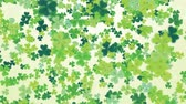 catholic church : Clover leaf St Patricks day background looped