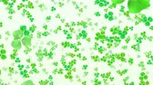 ireland : Clover leafs flying background, looped