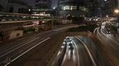 Timelapse of lights streak traffic in night city Dostupné videozáznamy
