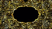 Gold Ramadan kareem frame background with space for your text. Alpha and looped. Dostupné videozáznamy