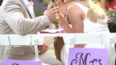 senhora : Slow Motion Sequence Of Bride And Groom At Reception