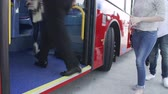ônibus : Time Lapse View Of Passengers Feet Boarding Bus Vídeos