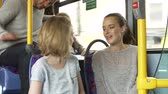 сиденья : Two Young Women On Bus Journey Together