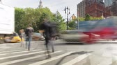 ônibus : Time-lapse Sequence Of Traffic On New York Street