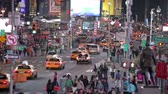 eua : Time-lapse Sequence Of Traffic At Night In Times Square NYC