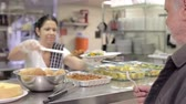 pobreza : Kitchen Serving Food In Homeless Shelter