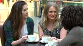 lifestyle shot : Group Of Young Female Friends Meeting In Café
