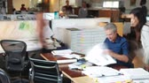 hurry : Time Lapse Sequence Of Busy Architects Office