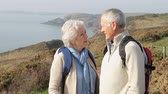 aposentadoria : Senior Couple Taking Selfie Walking Along Coastal Path