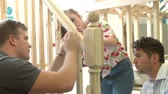 подросток : Students In Carpentry Class Working On Staircase