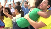 fãs : Spectators Cheering At Outdoor Sports Event Vídeos