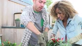 sustentável : Couple Planting Rooftop Garden Together