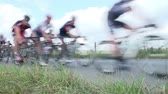 concorrentes : Abstract View Of Competitors In Cycle Race