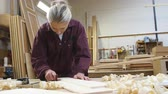 industry : Female Apprentice Sanding Wood In Carpentry Workshop
