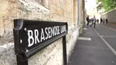 campus : Street Sign For Brazenose Lane In Oxford