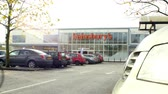 wide angle : Exterior View Of Sainsburys Supermarket Entrance