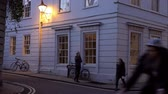 дом : View Along Street In Oxford City Centre At Dusk