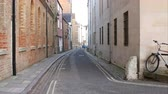 campus : View Along Street In Oxford City Centre Stock Footage