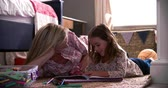 mama : Mother And Daughter Coloring Picture In Childs Bedroom Wideo
