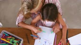 mama : Overhead View Of Mother And Daughter Coloring Picture Wideo