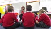 ask : Teacher Reading Story To Elementary School Pupils