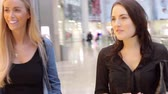 decisão : Two Female Friends Shopping In Mall Together