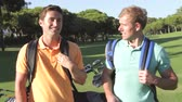 golfe : Two Men Enjoying Game Of Golf