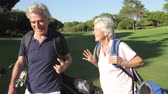 riso : Senior Couple Enjoying Game Of Golf