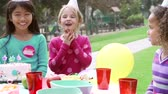 blower : Group Of Children Having Outdoor Birthday Party