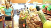pimentas : Woman Shopping In Supermarket