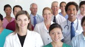 medicina : Group Portrait Of Medical Staff Stock Footage