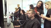 estilista : Teacher Training College Students In Hairdressing Class