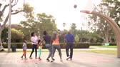 mama : Multi Generation Family Playing Basketball In Slow Motion