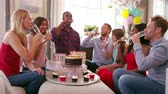 queque : Group Of Friends Celebrating Birthday At Home Shot On R3D
