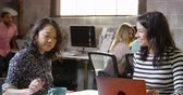 tecnologia : Female Designers Using Laptop In Modern Office Shot On R3D