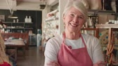 prezent : Portrait Of Senior Female Owner Of Gift Store Shot On R3D Wideo