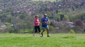lifestyle shot : Mature Couple Jogging In Countryside Shot On R3D