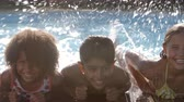 dámské plavky : Portrait Of Children Having Fun In Outdoor Swimming Pool Dostupné videozáznamy
