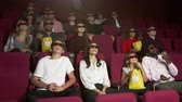 кино : Audience In Cinema Watching 3D Film