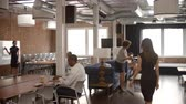 área de trabalho : Interior Of Busy Modern Office With Staff Working Stock Footage