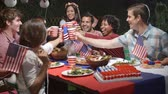 nativo : Friends Making A Toast To Celebrate 4th Of July At Party