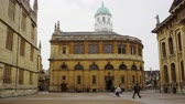 theatre : Zeitspanne-Reihenfolge des Sheldonian-Theaters in Oxford Stock Footage