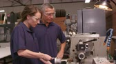 tokarka : Engineer Training Female Apprentice On Lathe Shot On R3D Wideo