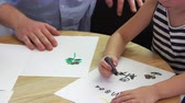 jardim de infância : Pupil Drawing With Crayon In Montessori School Class