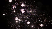 карнавал : Fireworks at the beginning of the new year. In black night