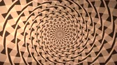 hypnotist : Spiral with Triangle Background This spiral with triangular design is an abstract usually seen on techno. Stock Footage