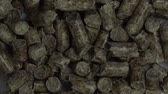 malzemeleri : Close Up View of Wood Pellet  This is the close up view of natural wood pellets background. Stok Video