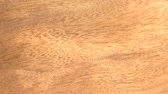 madeira de lei : (Perfect Loop) Blistered Sapele Wood Piece Look closely at blistered sapele wood of Ethiopia, Africa. Stock Footage